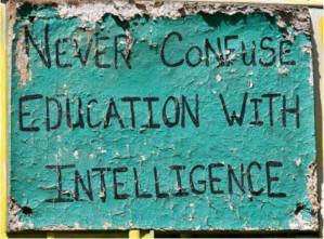 education vs intelligense