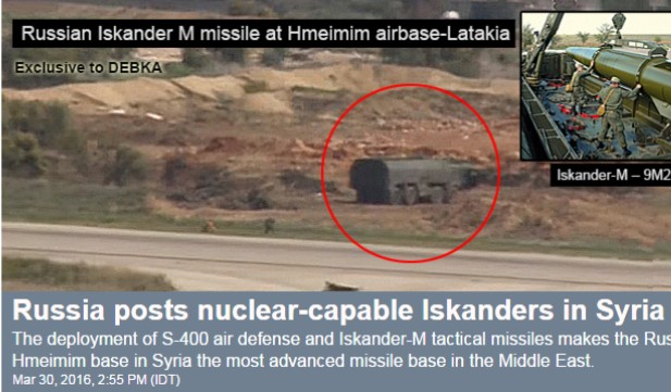 Russian missiles in Syria