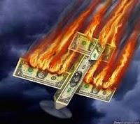 burning dollars