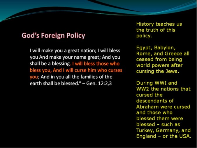 God's foriegn policy