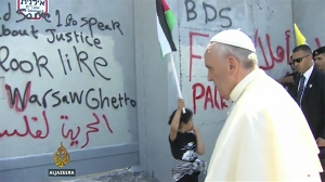 pope chooses palestinians