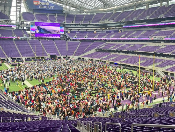 "Muslims Hold Massive Rally At Vikings USBank Stadium — Chanting ""Allahu Akbar"""