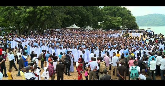 largest baptism