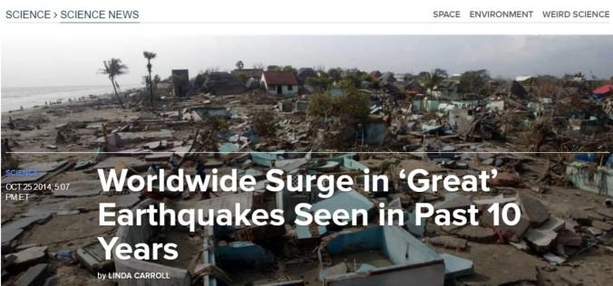 earthquake rise