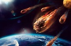 asteroid hitting earth 2
