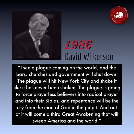 David Wilkerson on the plague