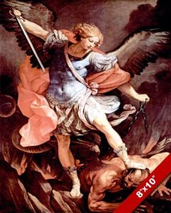 Michael defeating Satan war in heaven