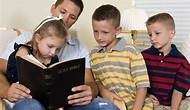 father training children