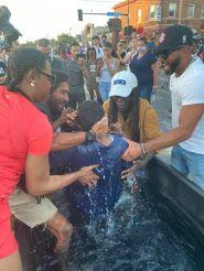 Minneapolis baptism in the street