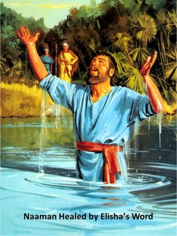 Naaman healed